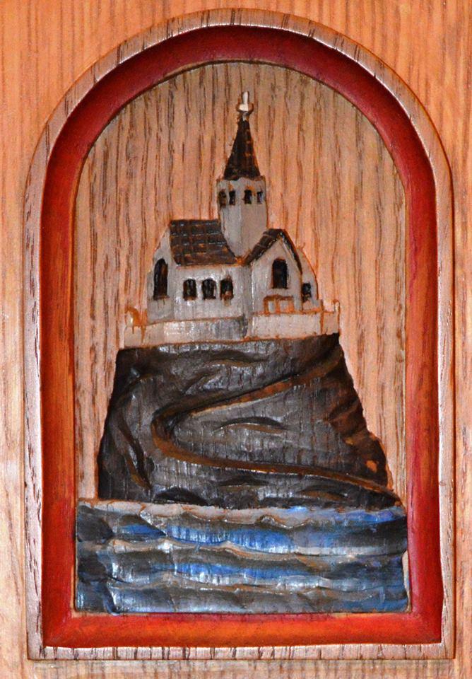 Religious artwork in Saint Andrews Presbyterian church